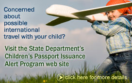 Children's Passport Issuance Alert Program link